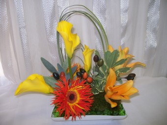 Fall Center Piece in Fairfax VA, Exotica Florist, Inc.