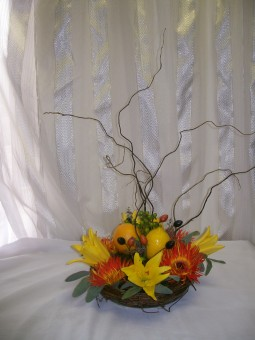Curly Willow Center Piece in Fairfax VA, Exotica Florist, Inc.