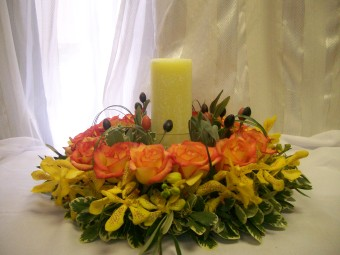 Romantic Fall Arrangement in Fairfax VA, Exotica Florist, Inc.