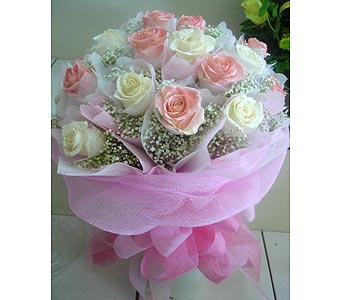 1Dz Round Hand Carry Bouquet in Rowland Heights CA, Charming Flowers