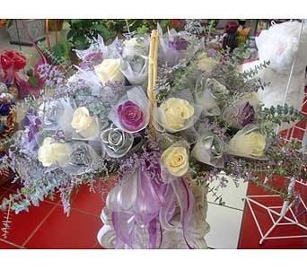 Queen Basket Arrangement (3 Dozen) in Rowland Heights CA, Charming Flowers
