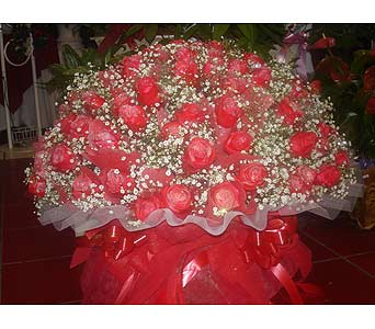 100 Red Rose Basket in Rowland Heights CA, Charming Flowers