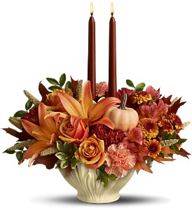 Lenox Gift of Autumn by Teleflora - Deluxe in Quitman TX, Sweet Expressions