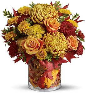 Teleflora's Golden Leaves in Grass Lake MI, Designs By Judy