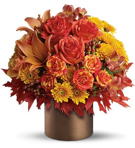 Teleflora's Color-fall in Houston TX, Village Greenery & Flowers