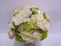 White and Green Bouquet in Cerritos CA, The White Lotus Florist