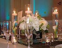 White Wedding with Candles in Cerritos CA, The White Lotus Florist