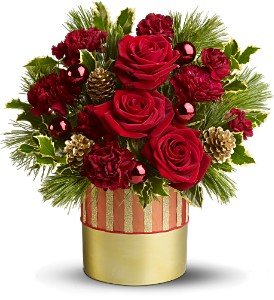 Teleflora's Holiday Elegance in New Rochelle NY, Flowers By Sutton