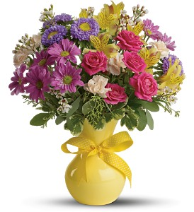 Teleflora's Color It Happy in Houston TX, Village Greenery & Flowers