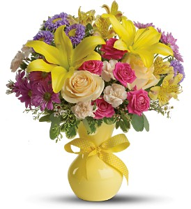 Teleflora's Color It Happy - Deluxe in New Paltz NY, The Colonial Flower Shop
