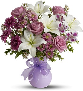 Teleflora's Precious in Purple - Deluxe in Los Angeles CA, La Petite Flower Shop