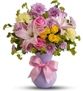 Teleflora's Perfectly Pastel in Houston TX, Village Greenery & Flowers