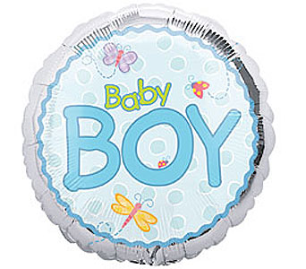 Baby Boy Mylar Balloon in Oklahoma City OK, Trochta's