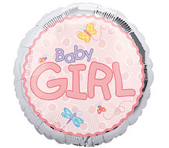 Baby Girl Mylar Balloon in Oklahoma City OK, Trochta's