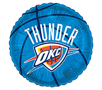 OKC Thunder Mylar Balloon in Oklahoma City OK, Trochta's