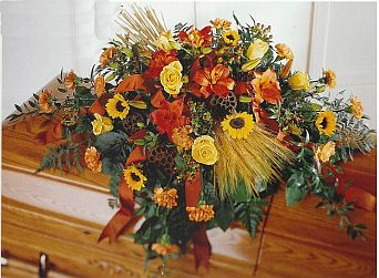 Autumn Casket in Eugene OR, Dandelions Flowers