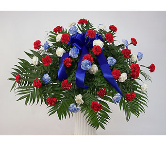 Patriotic Casket Spray in Indianapolis IN, Gillespie Florists