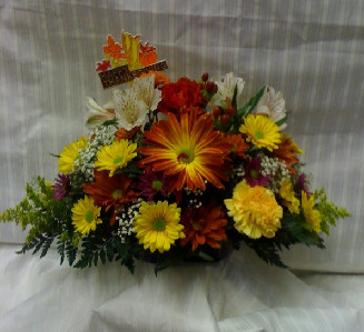 OBLONG FALL CENTERPIECE in Bellmore NY, Petite Florist