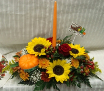 TO GIVE THANKS CENTERPIECE in Bellmore NY, Petite Florist