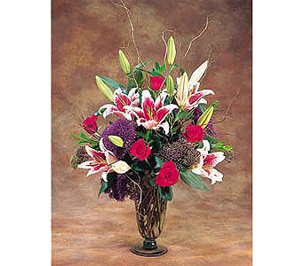 Vase Of Passion in New York NY, CitiFloral Inc.