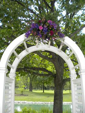 Purle Archway in Bensenville IL, The Village Flower Shop