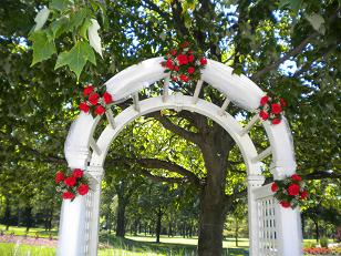 Five star archway in Bensenville IL, The Village Flower Shop