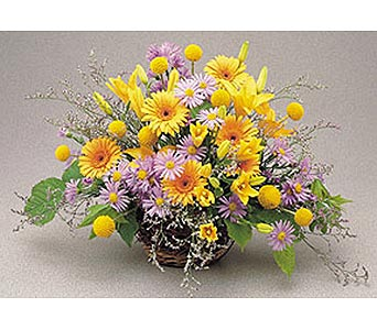 Mille Fleur Basket Arrangement in New York NY, CitiFloral Inc.