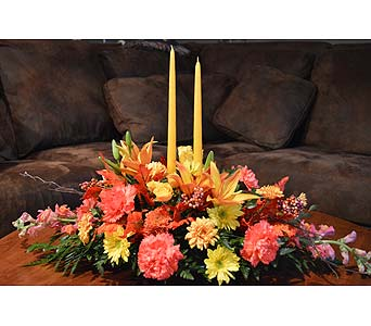 Give Thanks Centerpiece in Utica NY, Chester's Flower Shop And Greenhouses