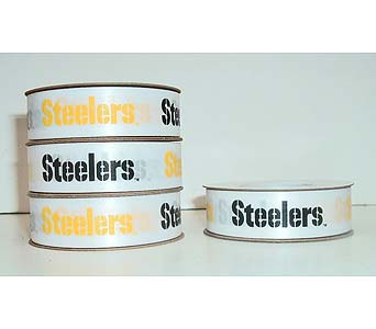 Steelers Ribbon - white in McKees Rocks PA, The Flowersmith