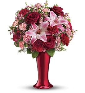 Teleflora's Red Hot Bouquet in Chester NY, Chester Greenery & Gifts