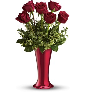 Teleflora's Red Hot Half-Dozen in Senatobia MS, Franklin's Florist
