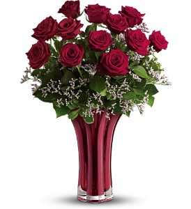 Teleflora's Ruby Nights Dozen in Vancouver BC, Davie Flowers