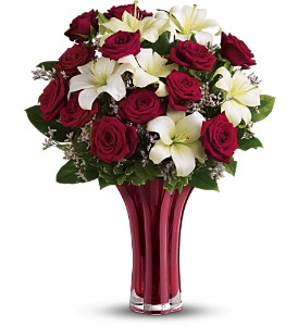 Teleflora's Ruby Nights Dozen - Deluxe in Merced CA, A Blooming Affair Floral & Gifts