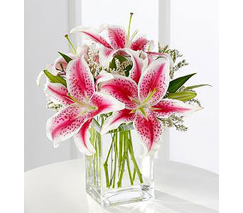Pink Lily Bouquet in Princeton, Plainsboro, & Trenton NJ, Monday Morning Flower and Balloon Co.