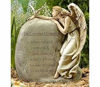 Angel With In Loving Memory Stone in Greenfield IN, Penny's Florist Shop, Inc.
