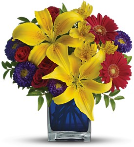 Teleflora's Blue Caribbean in Linden NJ, House Of Flowers