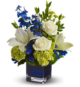 Teleflora's Serenade in Blue in Oshkosh WI, House of Flowers