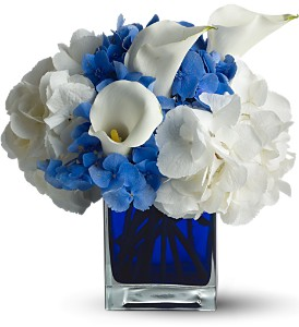 Teleflora's Waves of Blue in Santa Monica CA, Edelweiss Flower Boutique