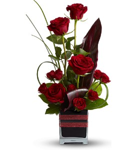 Teleflora's Romance Roses in New Iberia LA, Breaux's Flowers & Video Productions, Inc.