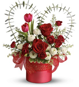 Teleflora's I Heart You in Moose Jaw SK, Evans Florist Ltd.
