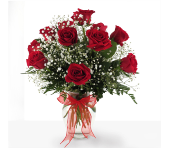 Red Roses Vased  in Southfield MI, Thrifty Florist