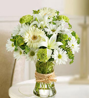 SERENE GREEN BOUQUET in Homer NY, Arnold's Florist & Greenhouses & Gifts