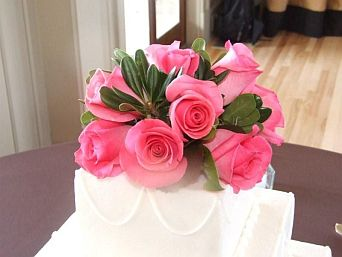 Pink Rose Cake Topper in Guelph ON, Patti's Flower Boutique