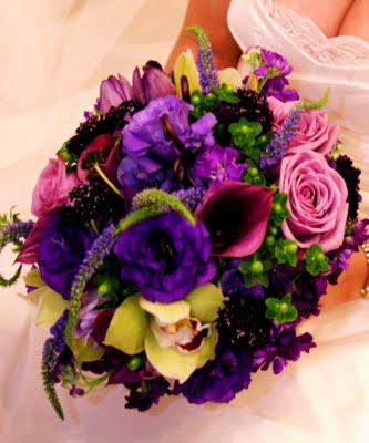 Rich Colors Bridal Bouquet in Knoxville TN, The Flower Pot