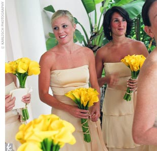 Yellow Calla Lilly Bridal Bouquet in Knoxville TN, The Flower Pot