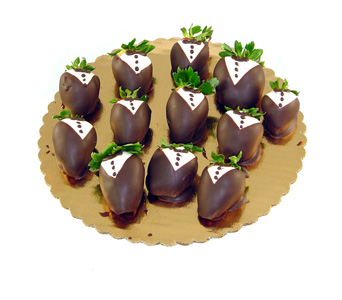 Tuxedo Chocolate Covered Strawberries in Baltimore MD, Raimondi's Flowers & Fruit Baskets