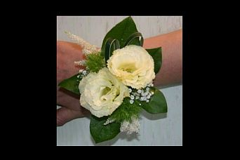 Lisianthus Wrist Corsage in Guelph ON, Patti's Flower Boutique