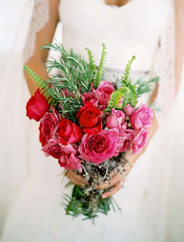 Pink & Green Bridal Bouquet  in Knoxville TN, The Flower Pot