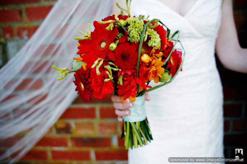 Fall Colors Bridal Bouquet in Knoxville TN, The Flower Pot