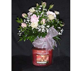 Yankee Candle Arrangement in Laconia NH, Prescott's Florist, LLC
